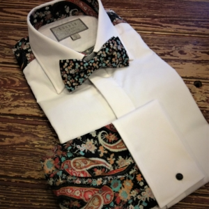 Patterned Back Dress Shirt