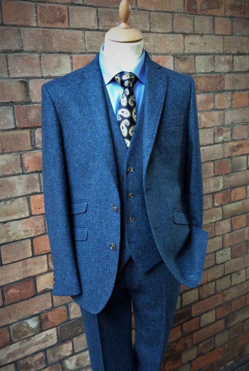 Blue Tweed Suit | Astaires