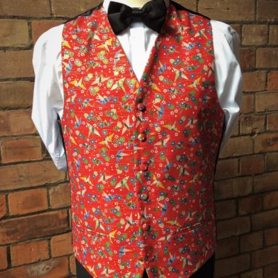 Red Patterned Waistcoat